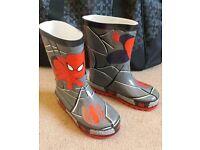 Kids Spiderman wellies - Infants size 8 - unworn