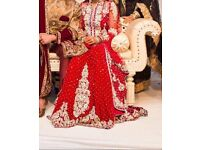 GOLU designer red bridal Asian dress