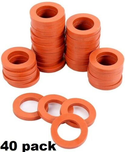 40 Pack Garden Water Hose Washers Rubber Gaskets O Ring Connection Heavy Duty