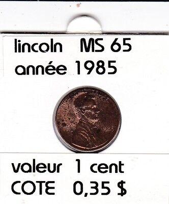 e2 )pieces de 1 cent  1985       lincoln