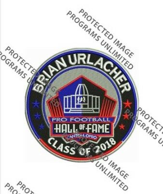 BRIAN URLACHER 2018 NFL HALL OF FAME PATCH HOF INDUCTION CHICAGO BEARS FOOTBALL