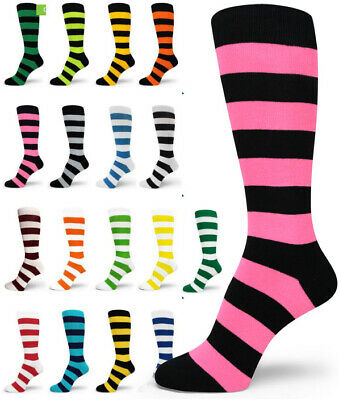 Mens Waldo Costume (Spotlight Hosiery Elite Quality Waldo/Bee Costume Mens Stripe Socks (XL)