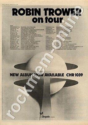 Robin Trower Hull, Intercon Club MM3 LP/Tour advert 1973