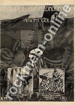 Amon Duul II Live In London Hull Intercon Club MM3 LP/Tour advert 1973