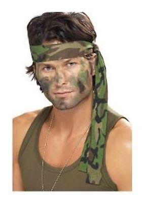 Smi - Karneval Kostüm Zubehör Stirnband Militär Camouflage für Soldat (Militär Kostüm Zubehör)