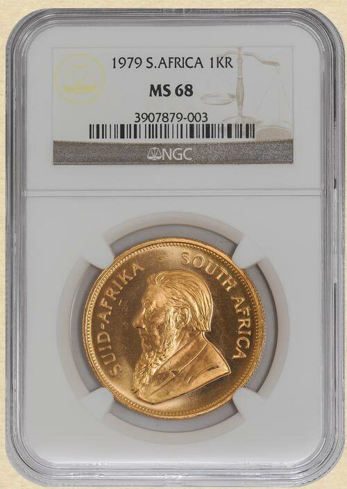 1979 South Africa Gold Krugerrand MS68 NGC 1oz Fine Gold 932919-3