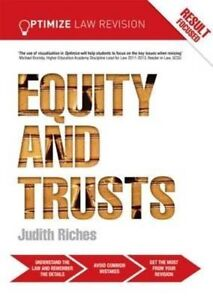 Optimize Equity and Trusts by Judith Riches (Paperback, 2014)