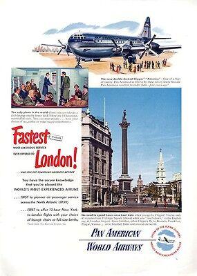 Clipper Plane (1949 Pan American Airlines Clipper Plane PRINT)