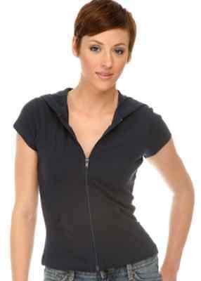 Girls Hoodie 100% Cotton Short Sleeved Hooded Zip Top Pockets Juniors - Junior Girls Hoodie