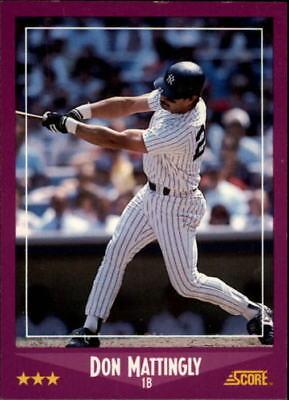 1988 Score Baseball Base Singles  Pick Your Cards