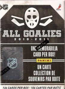 10-11 Panini All Goalies Box (Set-1 Memorabilia Card)