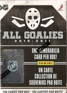 2010-2011 Panini All-Goalies  Hockey Hobby Box (Set)