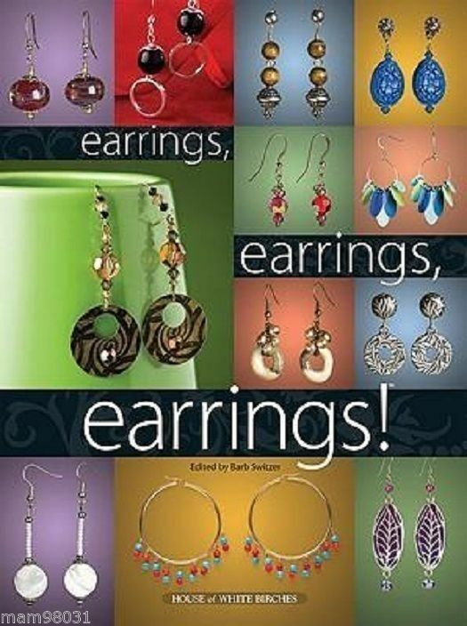 Beading Pattern Book DANGLE EARRINGS ~ BEADED Jewelry, Necklaces 70+