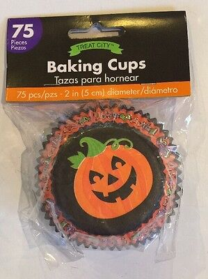 Halloween Pumpkin/Owl Trick or Treat Paper Baking Cups for Cupcakes, 75 Pcs/Pkg.