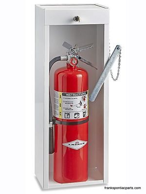 Metal Locking Fire Extinguisher Cabinet 10 Lb New Uline H-2123 White