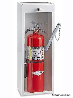 Metal Locking Fire Extinguisher Cabinet 10 Lb New Uline H-2123 White