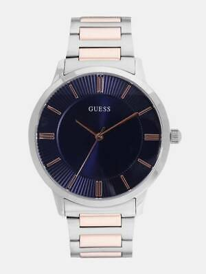 New! Guess Gents Escrow Stainless Steel Bracelet Blue Dial W0990G4 Mens Watch