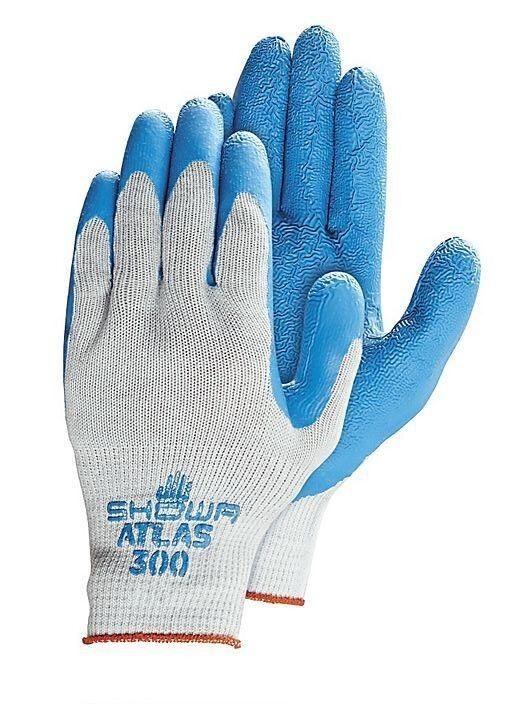 Showa Best Atlas 300 Rubber Dipped Work Gloves, Various Quan