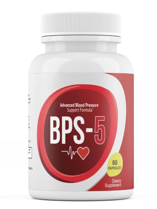 BPS - 5 ADVANCED BLOOD PRESSURE SUPPORT FORMULA BPS 5 60 Capsules