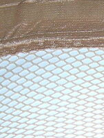 Bas stay-up fishnet beige pour $5