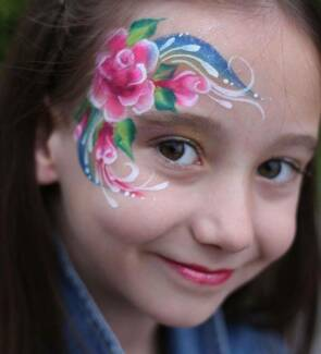 face painting,balloons twisting and henna tattoos.