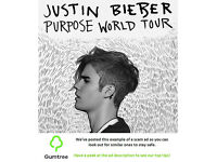 Justin Bieber tickets -- Read the ad description before replying!!