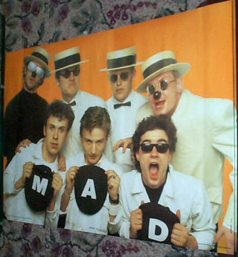 MADNESS Vintage 80s Group Poster