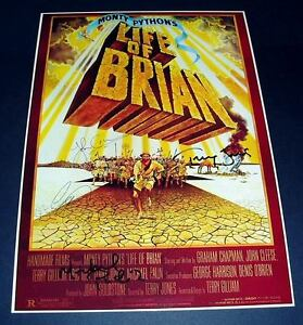 LIFE-OF-BRIAN-CASTX5-PP-SIGNED-POSTER-12X8-MONTY-PYTHON