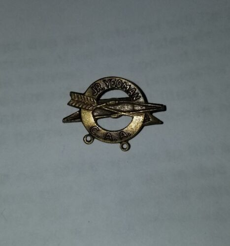Jr Yeoman CAA Camp Archery Association Vintage Lapel Pin/Tie Tack Gift - $4.99