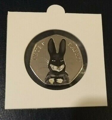 2016 Peter Rabbit BATMAN Uncirculated fifty pence 50p coin in coin flip