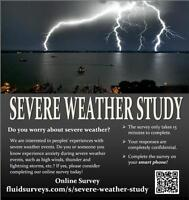 SEVERE WEATHER STUDY: Participants Wanted