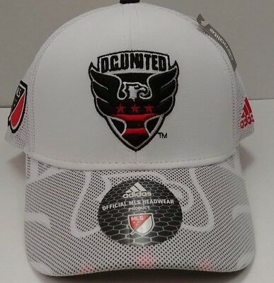 82bc1d920e4 DC United MLS adidas Climalite Authentic Team Structured Adjustable Hat    Cap