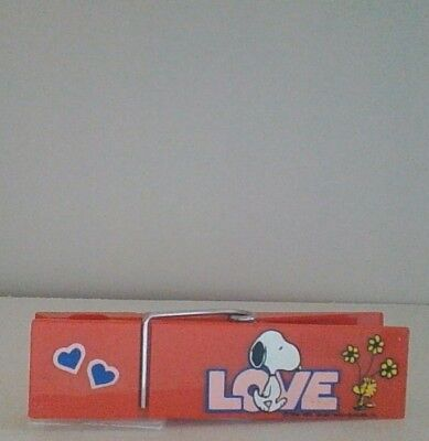 Vintage Peanuts Snoopy Love Large Clothespin Butterfly Nice Condition - Clothespin Butterfly