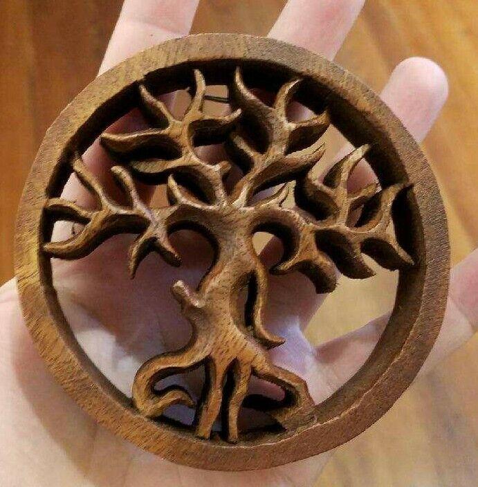 Tree of Life Wood Panel Carving Bali Life Universe Auspicious Spiritual Strength