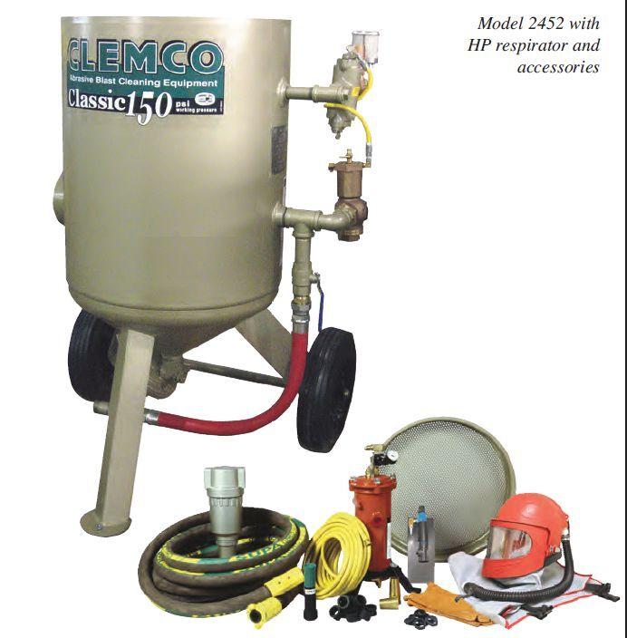 INDUSTRIAL SANDBLASTING MACHINE, CLEMCO 6 CU. FT.  MODEL 2452,