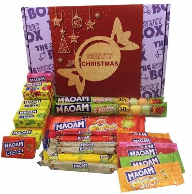 Merry Christmas The Sweet Box Maoam Chews Sweets Gift Box Bloxx Sours Pinballs