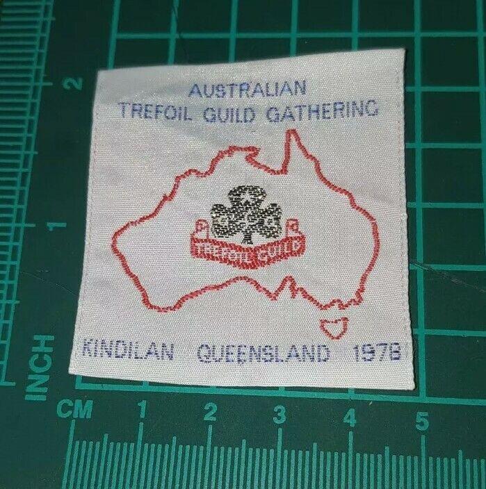 Australian Trefoil Guide Gathering Kindilan QLD 1978 Badge