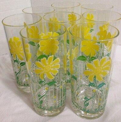 GLASSES TUMBLERS VINTAGE CULVER ICED TEA 6 1/4