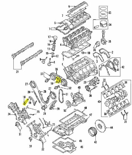 BMW 11311406261 GENUINE OEM CHAIN TENSIONER
