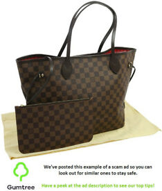 Louis Vuitton neverfull -- Read the ad description before replying!!