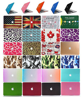 Rubberized Laptop Shell Cut-out Cases for Apple Mac MacBook Cover Hard Skin Case