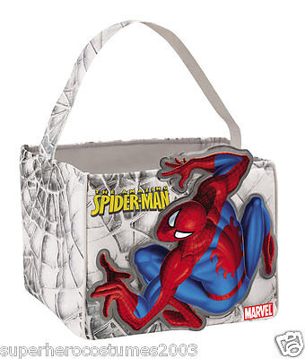 The Amazing Spider-Man Candy Cube Halloween Candy Pail Marvel Comics NWT 19103](Awesome Halloween Candy)