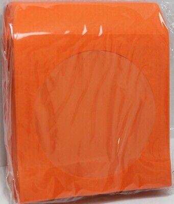 100 Orange Color Cd Dvd Paper Sleeve Envelopes