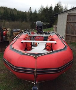 Inflatable boat & motor