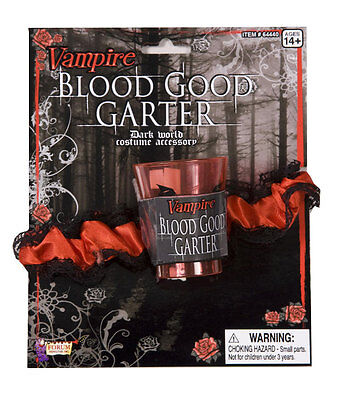 Vampire Blood Good Garter Shot Glass Dress Up Adult Halloween Costume Accessory