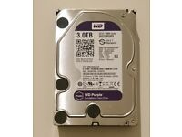 3tb CCTV HDD WD30PURX used for 2 months then upgaded. £60 including postage
