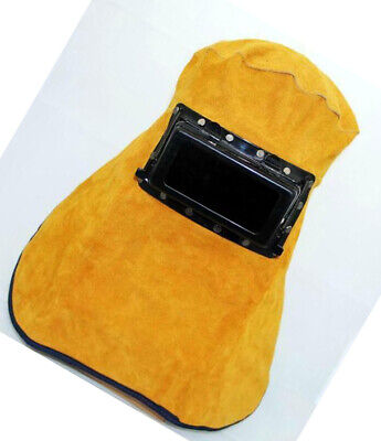 Leather Welding Hood Helmet Auto Darking Filter Lens M1