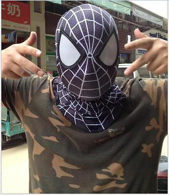 Stunning Amazing Spider-Man 2 Mask 3D Digital Printing Black&White Cosplay Props