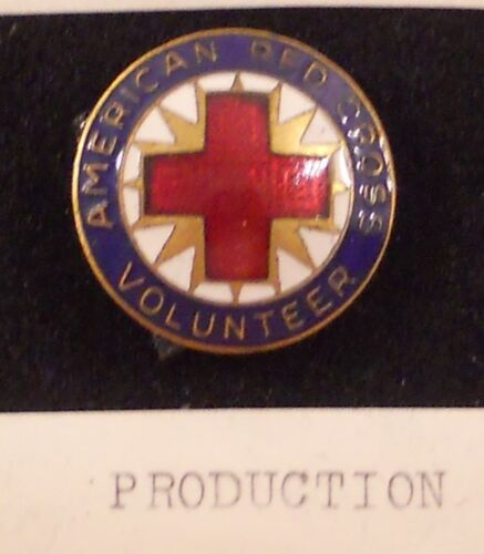 Vintage American Red Cross  Enamel Pin Production