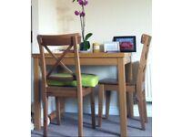 Ikea extendable dining room table - oak veneer